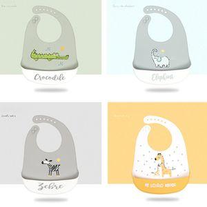 2 Stück Baby Lätzchen Silikon Lätzchen für Babys und Kleinkinder   mit Food Crumb Catcher Tasche (2er Set)zufällige Farbe