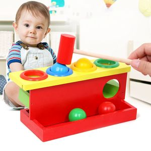 Kinder Hammerspiel Holz Klopfbank Hämmerchenspiel Montessori Spielzeug Lernspielzeug für 1-3 Jahre alt