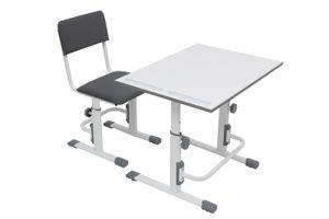 Polini Kids Schreibtisch mit Stuhl hhenverstellbar wei grau,1556.55