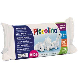 Piccolino Lufttrocknende Modelliermasse, lufthärtend 1kg weiß - ideal für Kinder & Therapie