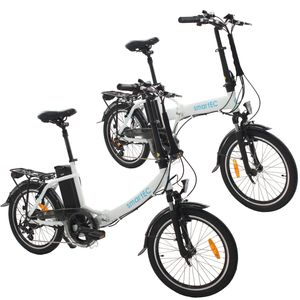 smartEC 2er Pack Camp-20D & Camp-20H Falt Pedelec/E-Bike 20 Zoll Weiß