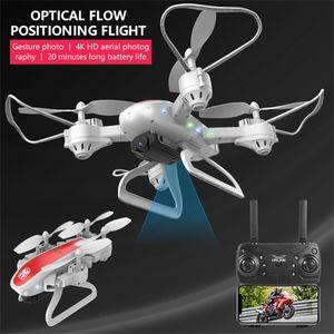 KY909 Faltbare Drohne mit 4K HD WiFi FPV RC Qudcopter mit zwei Kameras und zwei Kameras