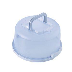 Kunststoff Kuchen Träger Halter Runde Behälter mit Griff Geeignet für 8 zoll Durchmesser Kleine Kuchen 25x13cm Blau Modern Kuchenbehälter