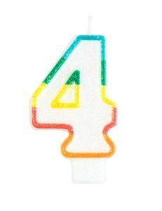 Geburtstagskerze Ziffer 4 7,5 cm