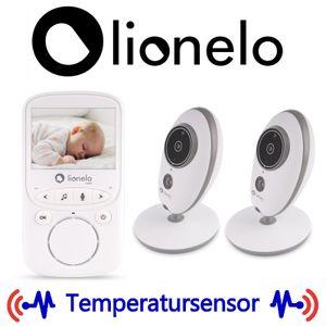 Lionelo Babyline 5.1 Babyphone mit Kamera Zweiwege-Kommunikation Reichweite von 300 Meter Zwei Kameras im Set Nachtmodus VOX-SystemWeiß