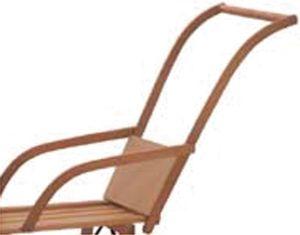 Schiebelehne für Holzschlitten Schiebevorrichtung Schlittenlehne Schieber Lehne