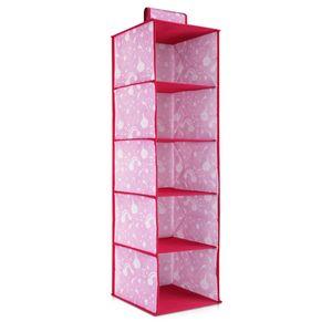Navaris Hängeregal Aufbewahrung für den Kleiderschrank - 5 Ablagefächer für Kleidung - Stoffschrank in passendem Design für Kinder - 28x28x95cm