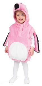 Oh2035-104-110 pink-weiß Kinder Flamingo Weste Kostüm Paradiesvogel Gr.104-110