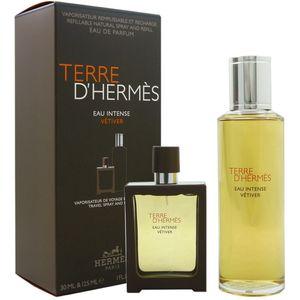 Hermes Terre d Hermes Eau Intense Vetiver Set 30 ml EDP & 125 ml EDP Nachfüllung