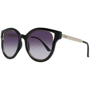 Guess Damen Brille Sonnenbrille Markenbrille, Größe:Einheitsgröße, Farbe:Braun-sattelbraun