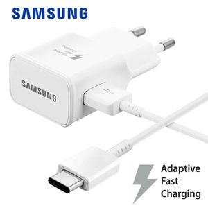 Original Samsung Netzteil Schnell Ladegerät + USB C Ladekabel EP-TA200 Fast Charger Datenkabel Netzladegerät Ladeadapter Galaxy S9 S10 S20 / S20 Plus / S20 Ultra / Note 10 Plus / Note 20 Ultra / A40 A50 A70 A71 A51 A41 A42 A21s A30s S8 Plus Weiß