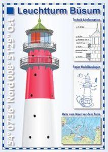 Leuchtturm Büsum - Sehkarte und Papier-Modellbaubogen