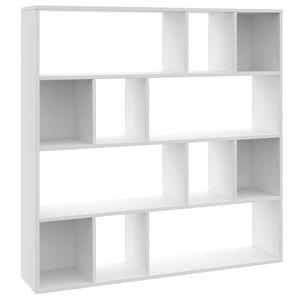 vidaXL Raumteiler/Bücherregal Weiß 110×24×110 cm Spanplatte