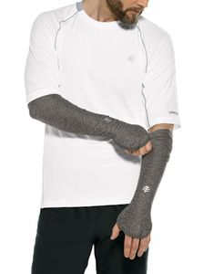 Coolibar - UV-schützende Performance Sleeves für Herren - Backspin - Anthrazit, XXL