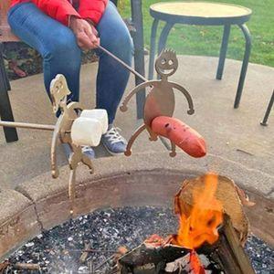 2 Stück Edelstahl Hot Dog/Marshmallow Röster,Neuheit Frauen Männer Geformte Lagerfeuer Bratstab,Lustige Spieß Stick Grillgabeln für Lagerfeuer und Grill (keine Gabel)