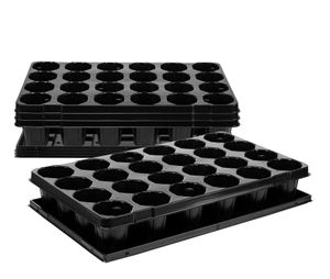 4x Anzuchtplatte Pro 24 Pflanzlöcher Ø 7,4 cm Untersetzer Pflanzschale Anzuchtschale Topfplatte