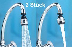 GKA 2 Stück Wassersparer Wasserhahn Aufsatz Brausekopf Strahlregler Schwenkbrause schwenkbar