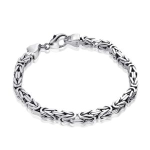 MATERIA Königskette 925 Silber Herren Armband 3mm diamantiert rhodiniert deutsche Fertigung #SA-36, Länge:23 cm