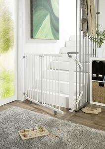 Treppenschutzgitter aus Holz : Weiß 95 cm - 135 cm Farbe: Weiß Passung: 95 cm - 135 cm