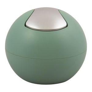 Spirella Kosmetikeimer 1 Liter Abfalleimer Schwingdeckeleimer Tischabfalleimer Bowl Grün matt