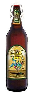 Happy Birthday 1 Liter Flasche mit Bügelverschluss (keine Geschenkverpackung)