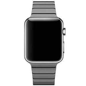 Edelstahl Band ersetzt Apple Watch Series SE/6/5/4/3/2/1 Armband, Gliederarmband 38mm/40mm, Metall Schwarz