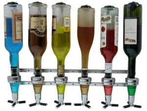 Kronenburg Getränkeportionierer für 6 Flaschen - Flaschenhalter für die Wand - Bar Butler