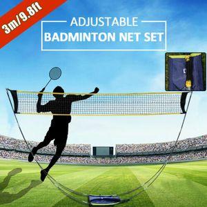 Tragbares Badminton-Tennis-Volleyball-Netzständer-Set Freien Badmintonnetz Tennisnetz Volleyballnetz