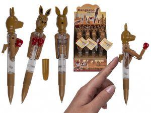 Kugelschreiber mit LED Känguru Boxer