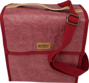 KeMar Kitchenware Lunchbox Tasche aus PE Papier | Kirsch Rot | Wasserabweisend | Vegan | Recycelt | Nachhaltig