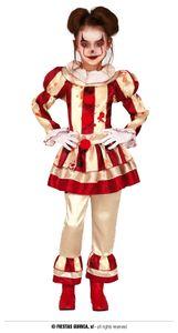 Fiestas Guirca kostüm clown polyester rot/weiß mt 10-12 jahre