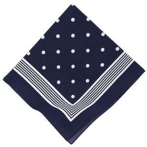 Betz Nickituch Bandana Richtfesttuch Halstuch mit klassischem Punktemuster 55x55 cm in rot, marine und schwarzblau Farbe - marine