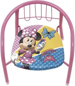 familie24 Minnie Maus Kindersessel gepolstert Klappsessel Sessel Stuhl Hocker Sofa Kindersessel Kinderstuhl Metallsessel