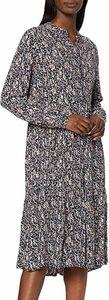OPUS Werani Midi-Kleid bedrucktes Damen Blusen-Kleid Marine geblümt, Größe:36