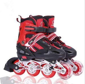 Kinder Rollschuhe M( 35-38) Inlineskater Inliner Schuhe Verstellbar blinkend rot