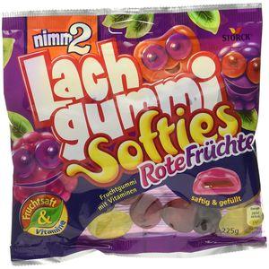 Nimm 2 Lachgummi Softies Rote Früchte saftig und gefüllt 225g