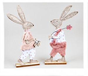 Hase aus Holz 30cm mit  Filz farbig sortiert Lieferumfang 1 Stück