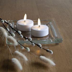 Star Trading LED Teelicht Flamme in Weiß 2-flammig