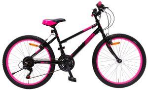 AMIGO Hardtail Mountainbike Power 26 Zoll 42 cm Mädchen 18G Felgenbremse Schwarz/Rosa