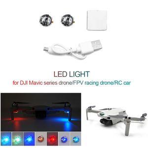 Fuer Mavic Serie Drohne Mavic Mini RC Drohne RC Auto 2 Stueck LED-Licht Signalleuchte Warnleuchte 7 Farben Blinken Verschiedene Blinkmodi