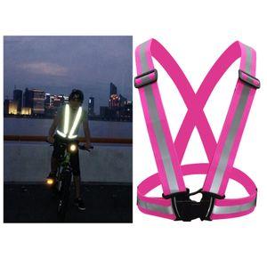 Weste Hohe Sichtbarkeit Sicherheit Weste Reflektierende Gürtel Radfahren Joggin Rosenrot 100 x 100 x 30 mm