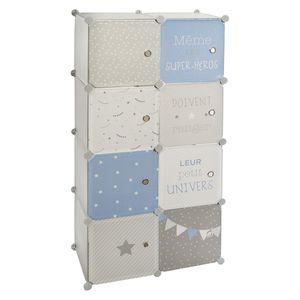 Schrank für Kinderzimmer, 64 x 31 x 124 cm, Atmosphera for kids, Farbe:blau