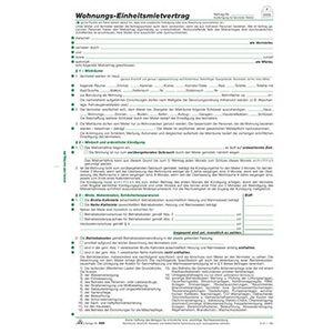 RNK Mietvertrag 599 DIN A4 4Blatt