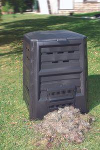 KHW Komposter ohne Boden  ; Farbe: Grün ; Maße (LxBxH): 84 cm x 84 cm x 112 cm ; 64029