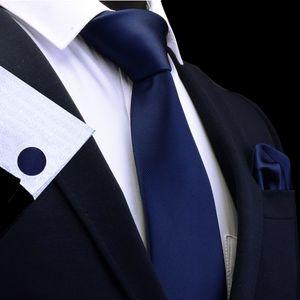 Silk fester Men s Krawatte im Set Krawatten Einstecktuch Manschettenknöpfe Sets für Männer Hochzeit Geschenk -(3,)