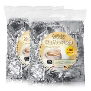 2x Cafeclub Entkoffeiniert Kaffeepads Megabeutel je 100 stk. einzeln verpackt
