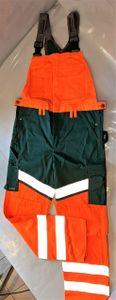 TRANEMO WORKWEAR Warnschutz Latzhose 4741 orange/flaschengrün Gr.48 Arbeitshose