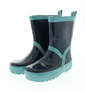 Playshoes Gummistiefel Regenstiefel uni marine/hellblau Jungen wasserdicht, Größe Schuhe Kinder:32/33, Farbe Playshoes:marine/hellblau