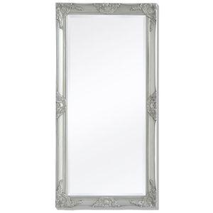vidaXL Wandspiegel im Barock-Stil 120x60 cm Silber