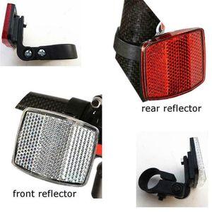 Fahrrad Frontreflexionslinse MTB Rennrad automatische Reflektoren Fahrradwarnleuchte Fahrrad Sicherheitszubehör | 1-teiliger Fahrrad-Frontreflektor + 1-teiliger Fahrrad-Heckreflektor